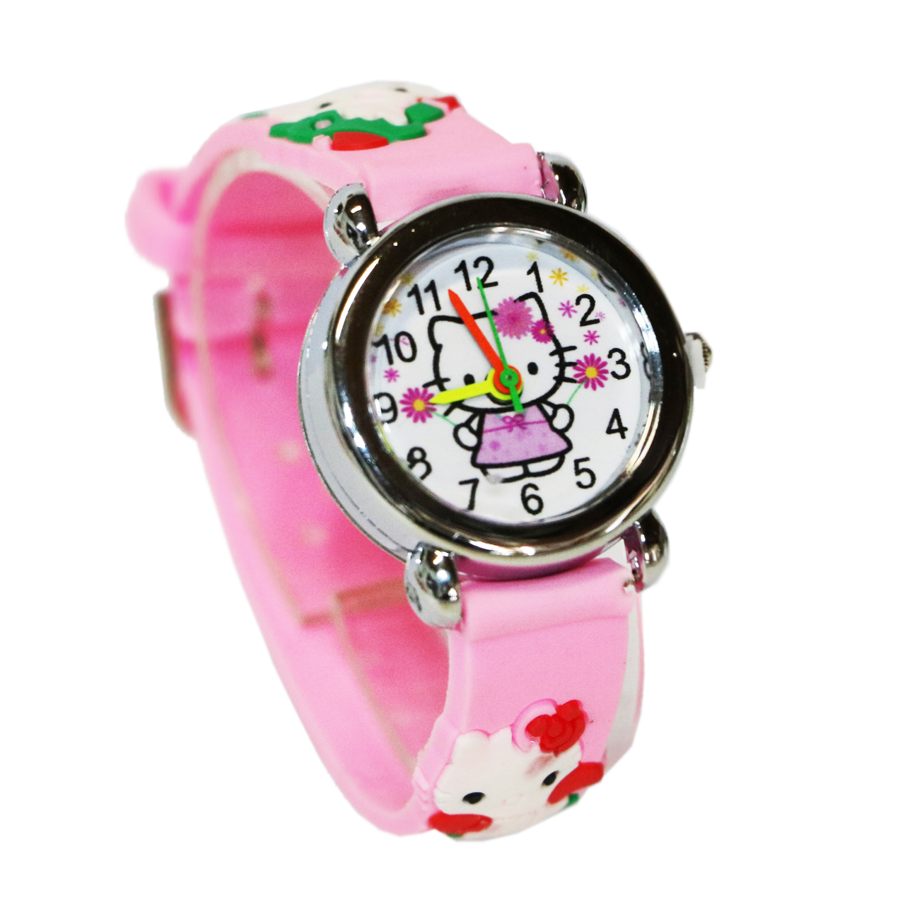 ساعت مچی عقربه ای بچگانه مدل Kitty-Pink-7823