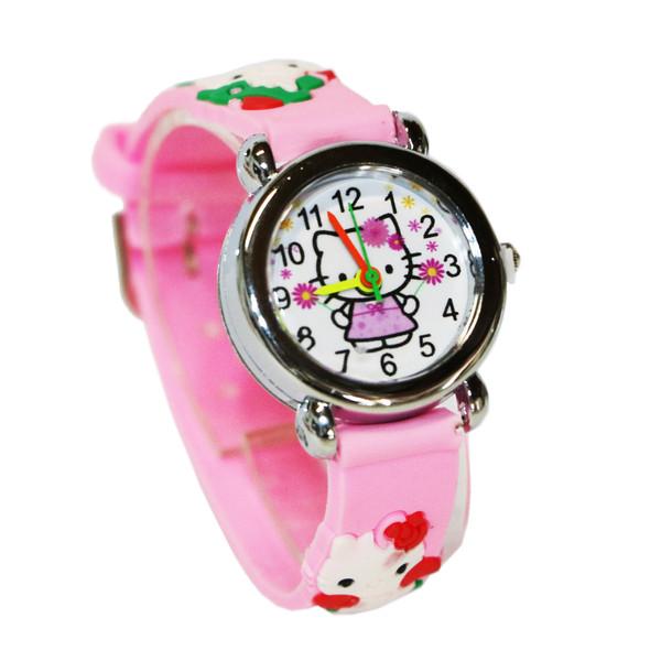 ساعت مچی عقربه ای دخترانه مدل Kitty-Pink-7823