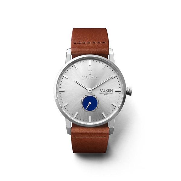 ساعت مچی عقربهای تریوا مدل Blue eye falken با یک بند اضافی 15