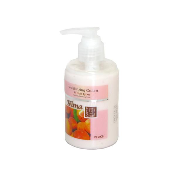 کرم آبرسان و مرطوب کننده تلما مدل (هلو) Moisturizing Cream حجم 200 میلی لیتر