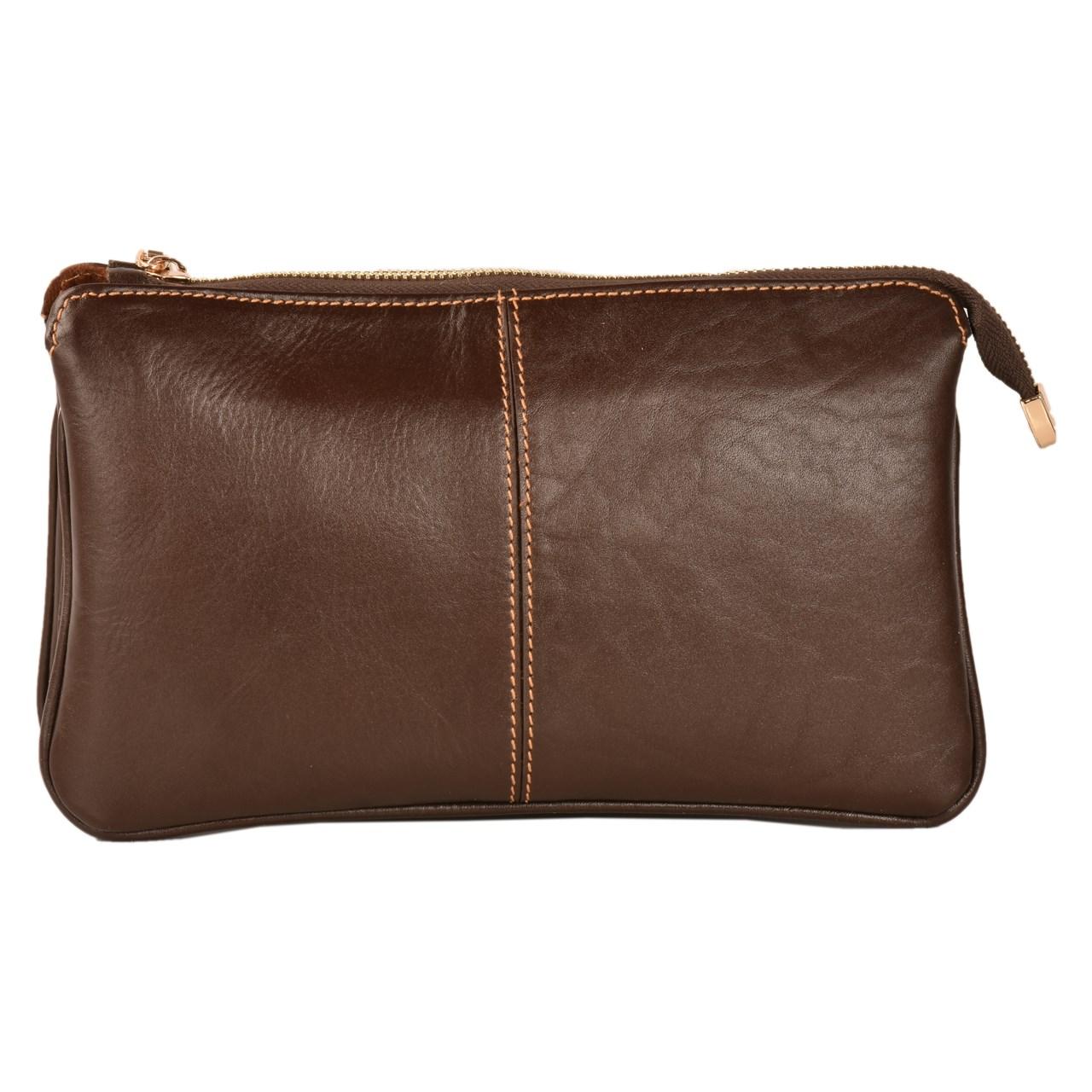 کیف رو دوشی چرم طبیعی کهن چرم مدل V157-7