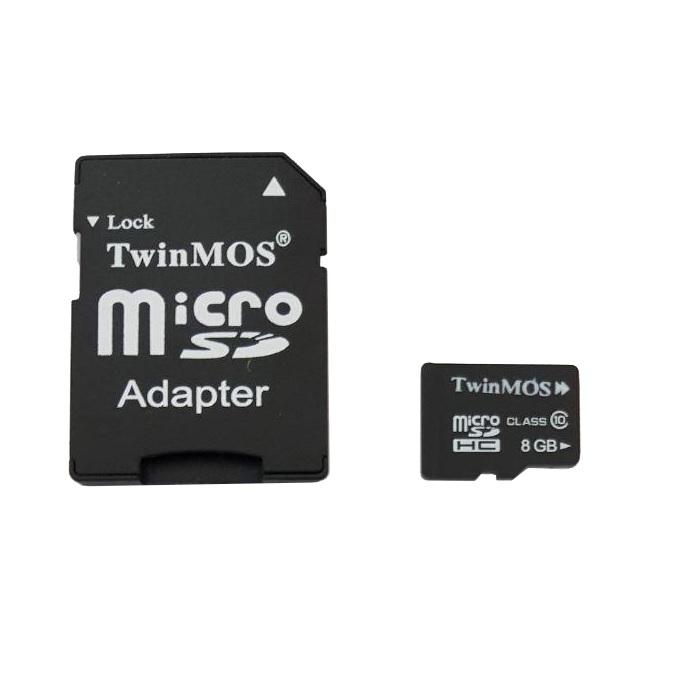 کارت حافظه microSDHC توین موس کلاس 10 سرعت 45MBps همراه با آداپتور SD ظرفیت 8 گیگابایت