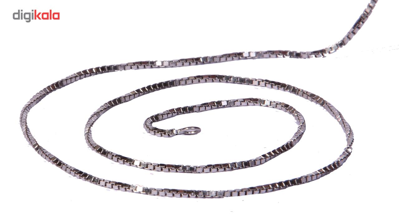 زنجیر نقره طرح ایتالیایی مدل RM21