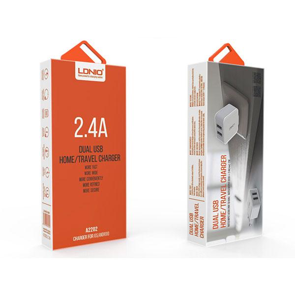 شارژر دیواری الدینیو مدل A2202 به همراه کابل microUSB