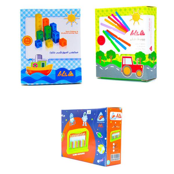 مجموعه بازی آموزشی کارا مدل چرتکه چوب خط و چینه