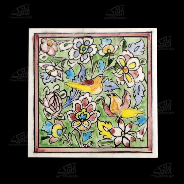 کاشی هفت رنگ  طرح گل و مرغ مدل 1118800008
