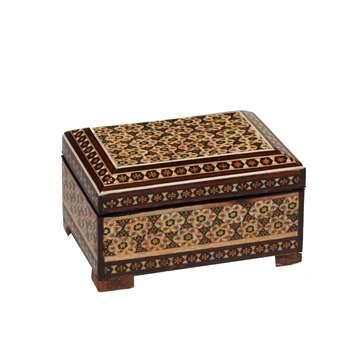 جعبه جواهرات خاتم کاری گالری گوهران مدل 1454