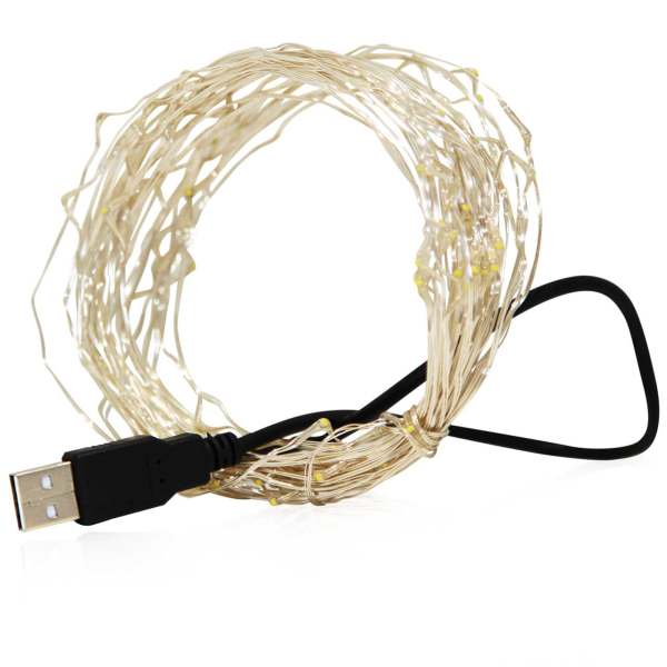 ریسه ال ای دی USB مدل 5V RGB ثابت طول 5 متر