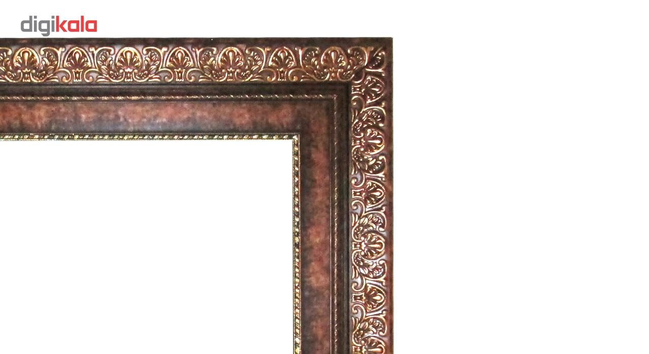 تابلو فرش ماشینی نقش نگار رضوی طرح تمثال حضرت عباس مدل 133P