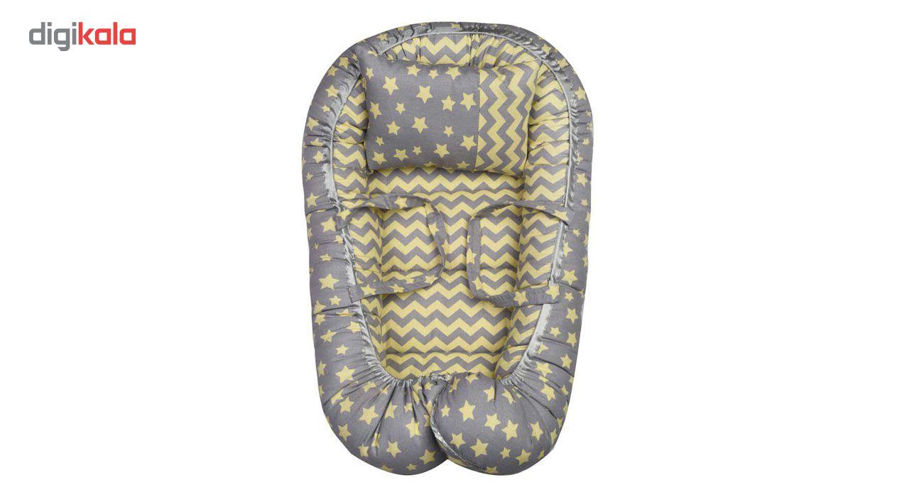 سرویس پنج تکه خواب نوزادی الی مدل ستاره طلایی main 1 2