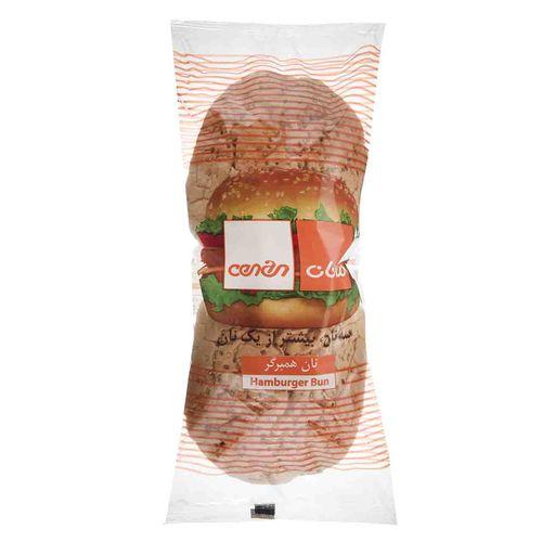 نان همبرگر سه نان مقدار 200 گرم
