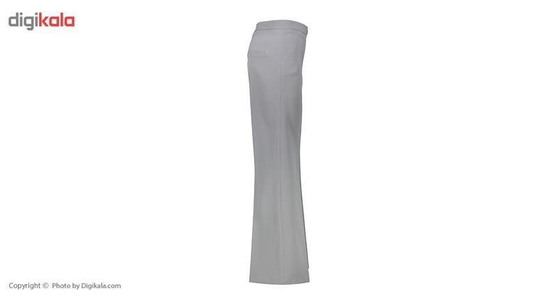 شلوار زنانه دمپا گشاد پارچه ای طوسی مدل 198