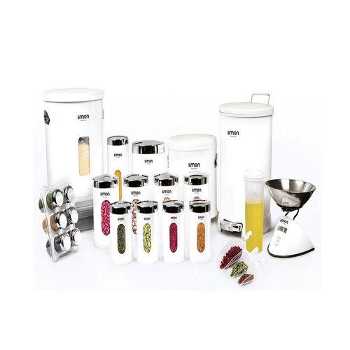 سرویس آشپزخانه 22 پارچه  لیمون مدل دایره 001