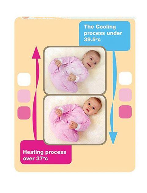 لباس سرهمی هشداردهنده تب بیبی گلو مدل Pink - بیبی گلو -  - 3
