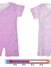 لباس سرهمی هشداردهنده تب بیبی گلو مدل Pink - بیبی گلو -  - 2