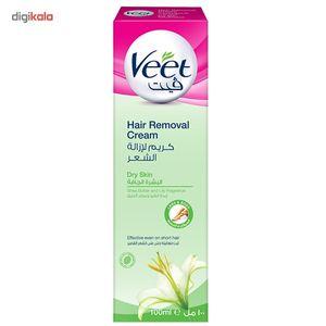 کرم موبر بدن ویت مخصوص پوست خشک حجم 100 میلی لیتر  Veet Skin Body Hair Removal Cream 100ml