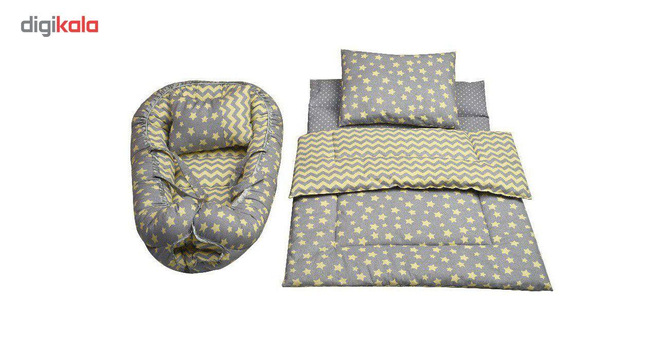 سرویس پنج تکه خواب نوزادی الی مدل ستاره طلایی main 1 1