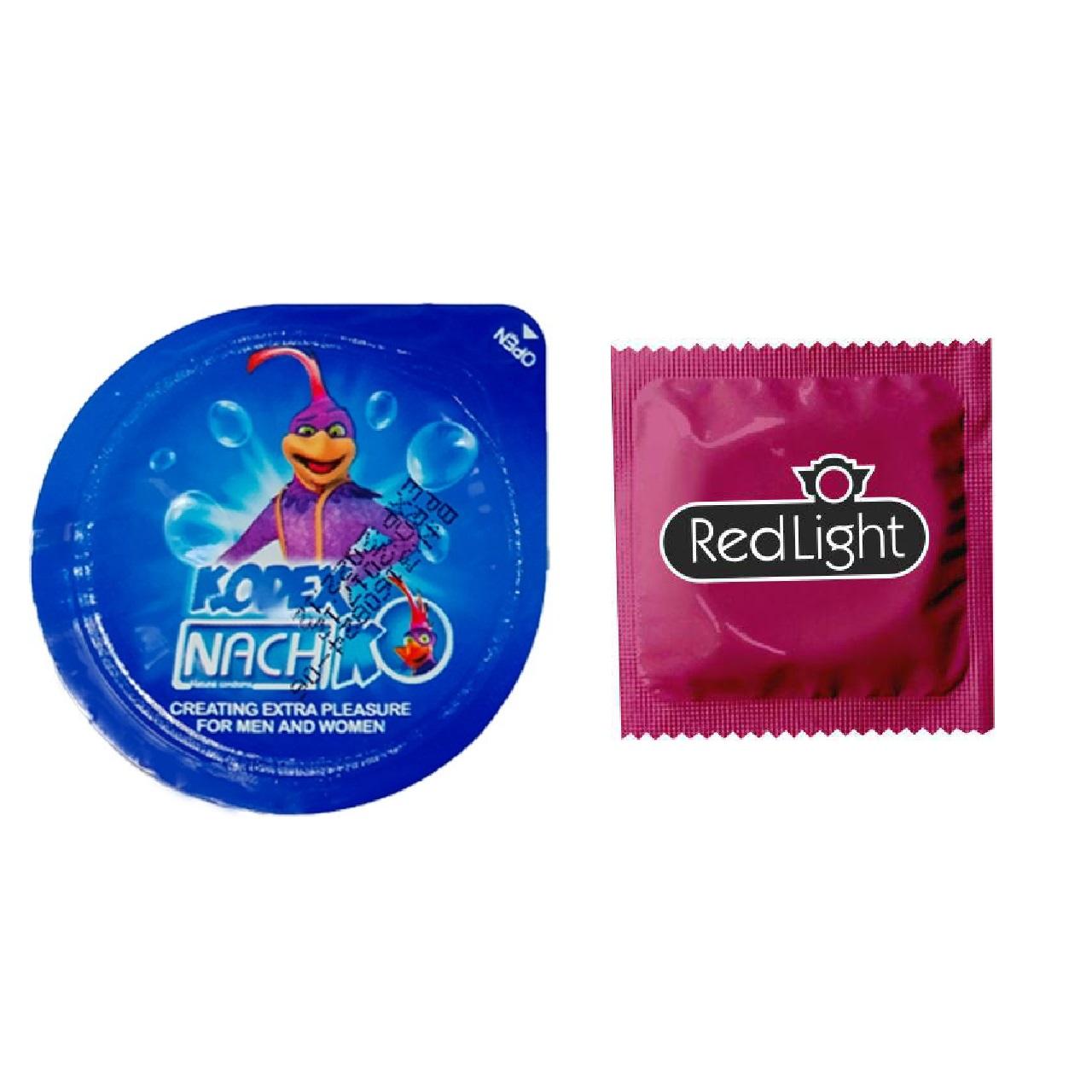 کاندوم ناچ مدل بلیسر کدکس به همراه یک عدد کاندوم ردلایت مدل فویل