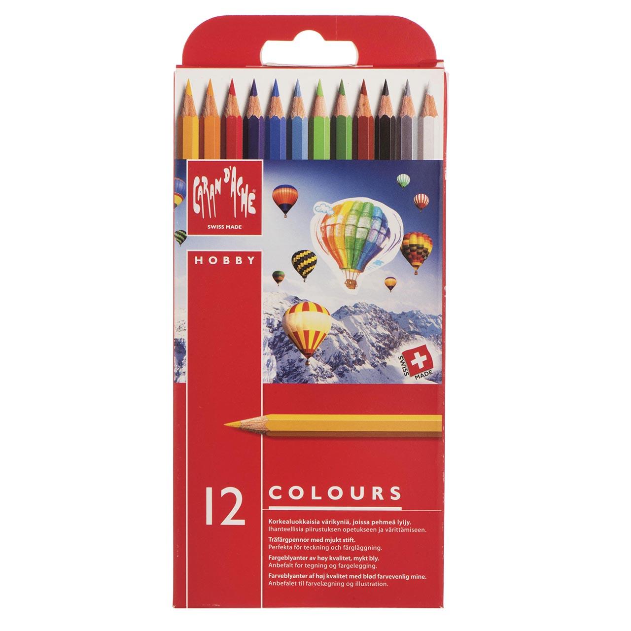 مداد رنگی 12 رنگ کارن داش مدل Hobby