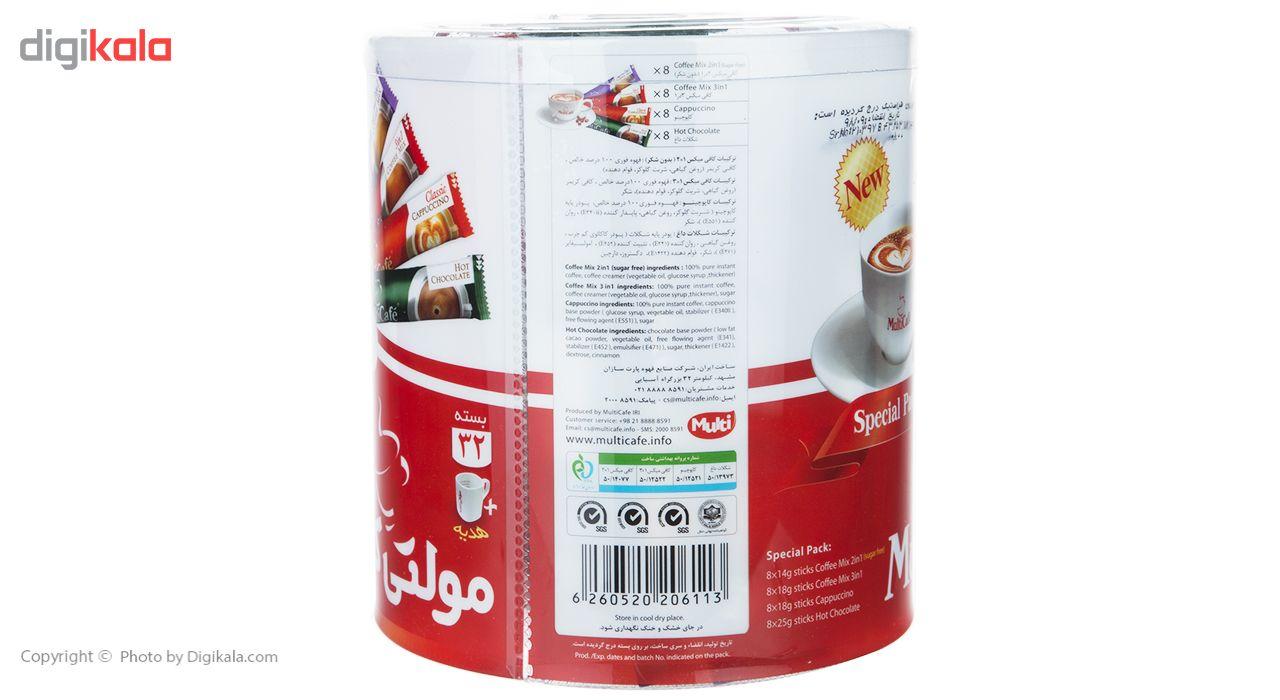 بسته ویژه مولتی کافه مقدار 600 گرم بسته 32 عددی به همراه ماگ هدیه main 1 4
