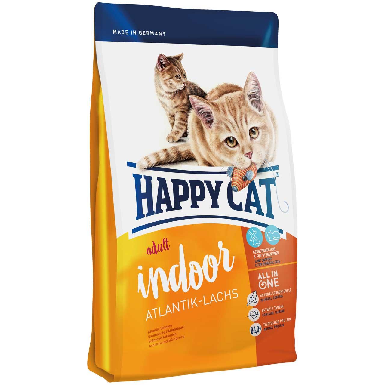 غذای خشک گربه بالغ هپی کت مدل ایندور 10 کیلوگرم