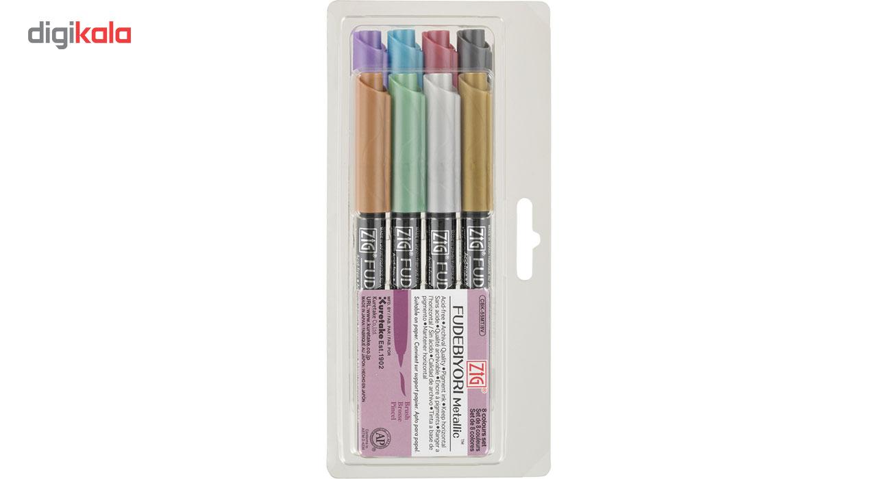 قیمت خرید ماژیک متالیک 8 رنگ زیگ مدل 8C بسته 8 عددی اورجینال