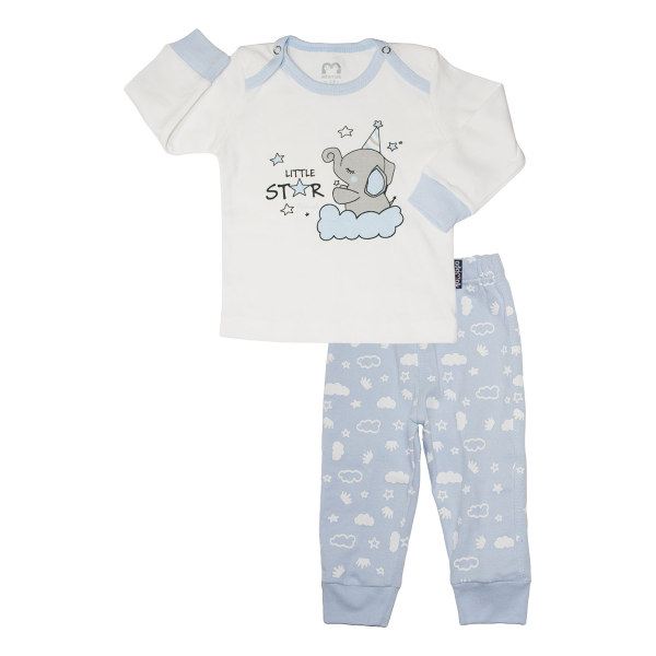 ست بلوز و شلوار نوزادی آدمک مدل 1107021 کد 03