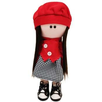 عروسک  طرح روسی مدل دختر کلاه قرمز ارتفاع 30 سانتی متر