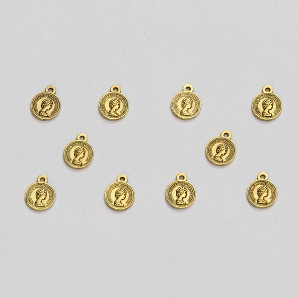 آویز دستبند طرح سکه الیزابت کد HN1707 بسته 10 عددی