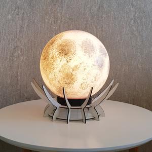 آباژور رومیزی طرح مرواریدمدل کره ماه