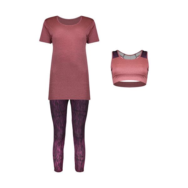 ست 3 تکه لباس ورزشی زنانه مدل Mhr-1021