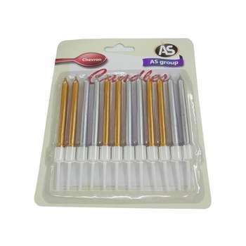شمع تولد طرح مداد کد 1008 بسته 12 عددی