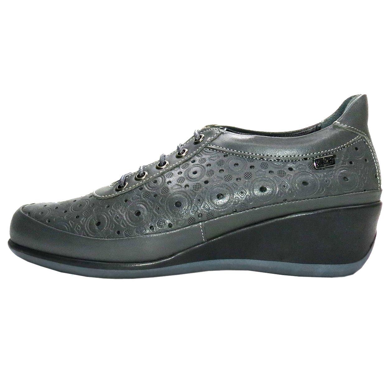 کفش روزمره زنانه آر اند دبلیو مدل 538 رنگ طوسی -  - 2