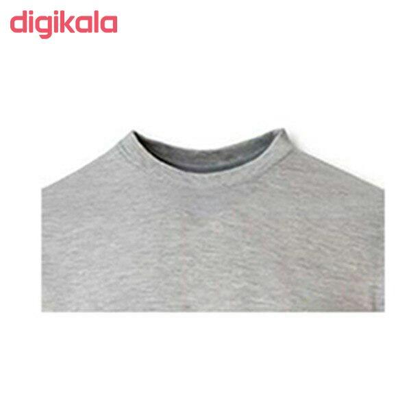 تیشرت آستین کوتاه مردانه طرح تاتو رنگ طوسی main 1 3