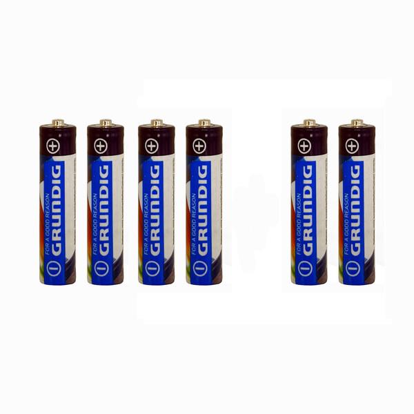 باتری نیم قلمی گراندیگ مدل R03 بسته 6 عددی