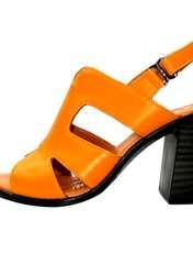 صندل زنانه آر اند دبلیو مدل 654 رنگ پرتقالی -  - 1