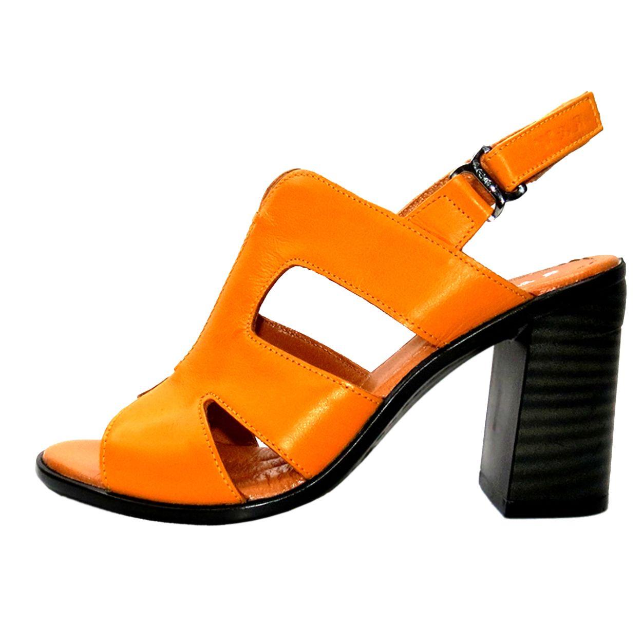 صندل زنانه آر اند دبلیو مدل 654 رنگ پرتقالی -  - 2