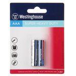 باتری نیم قلمی وستینگهاوس مدل Super Heavy Duty R03P UM4 بسته 2 عددی