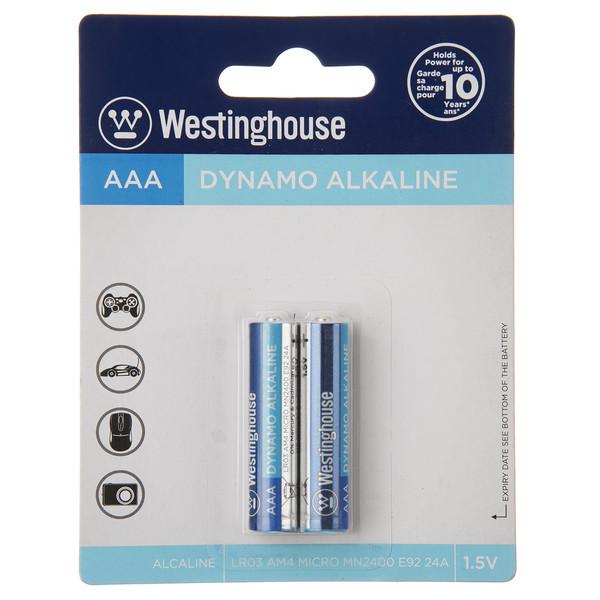باتری نیم قلمی وستینگهاوس مدل Dynamo Alkaline LR03 AM4 MICRO بسته 2 عددی
