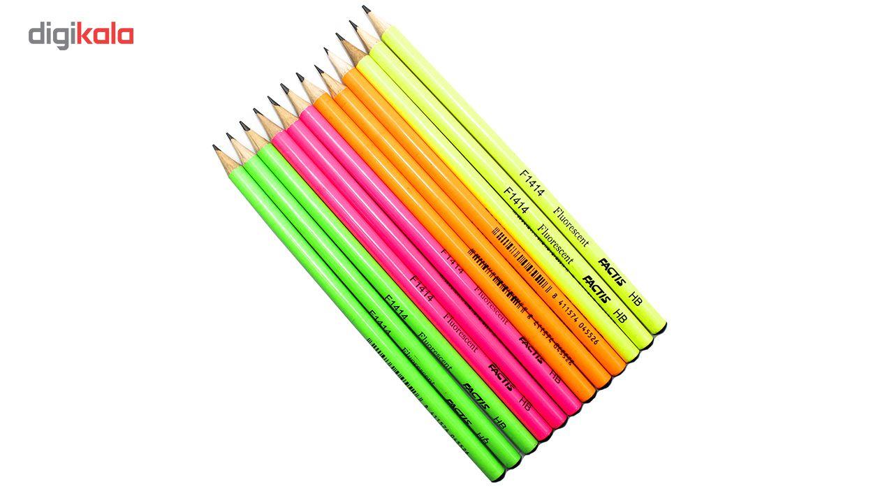 مداد مشکی فکتیس مدل F1414 بسته 12 عددی main 1 1