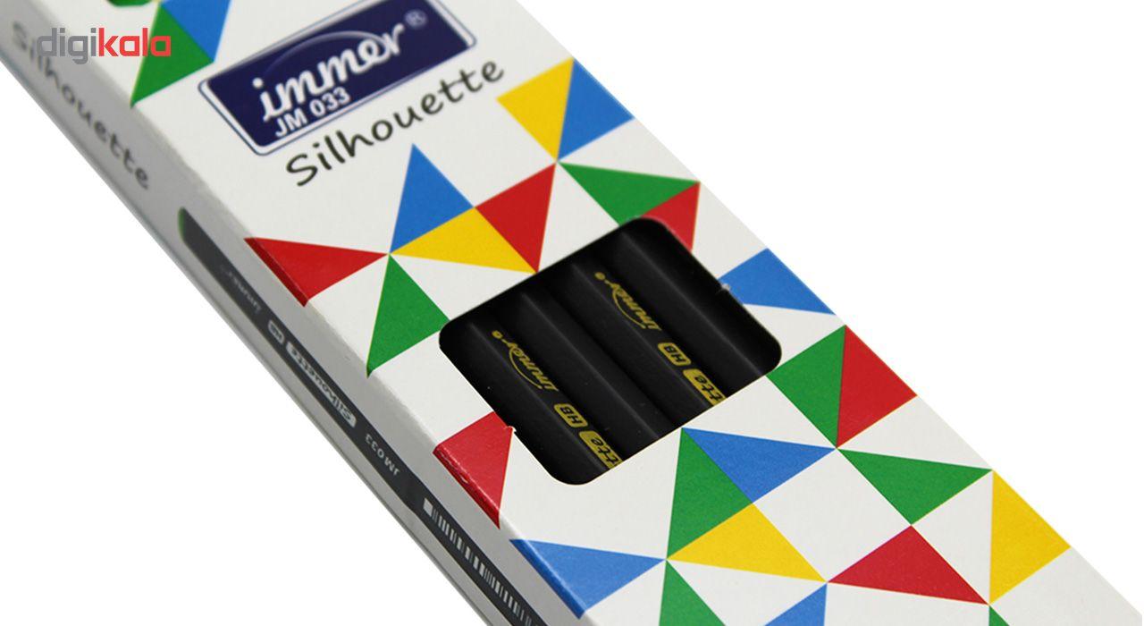 مداد مشکی ایمر مدل JM033 بسته 12 عددی به همراه 2 عدد پاک کن main 1 2