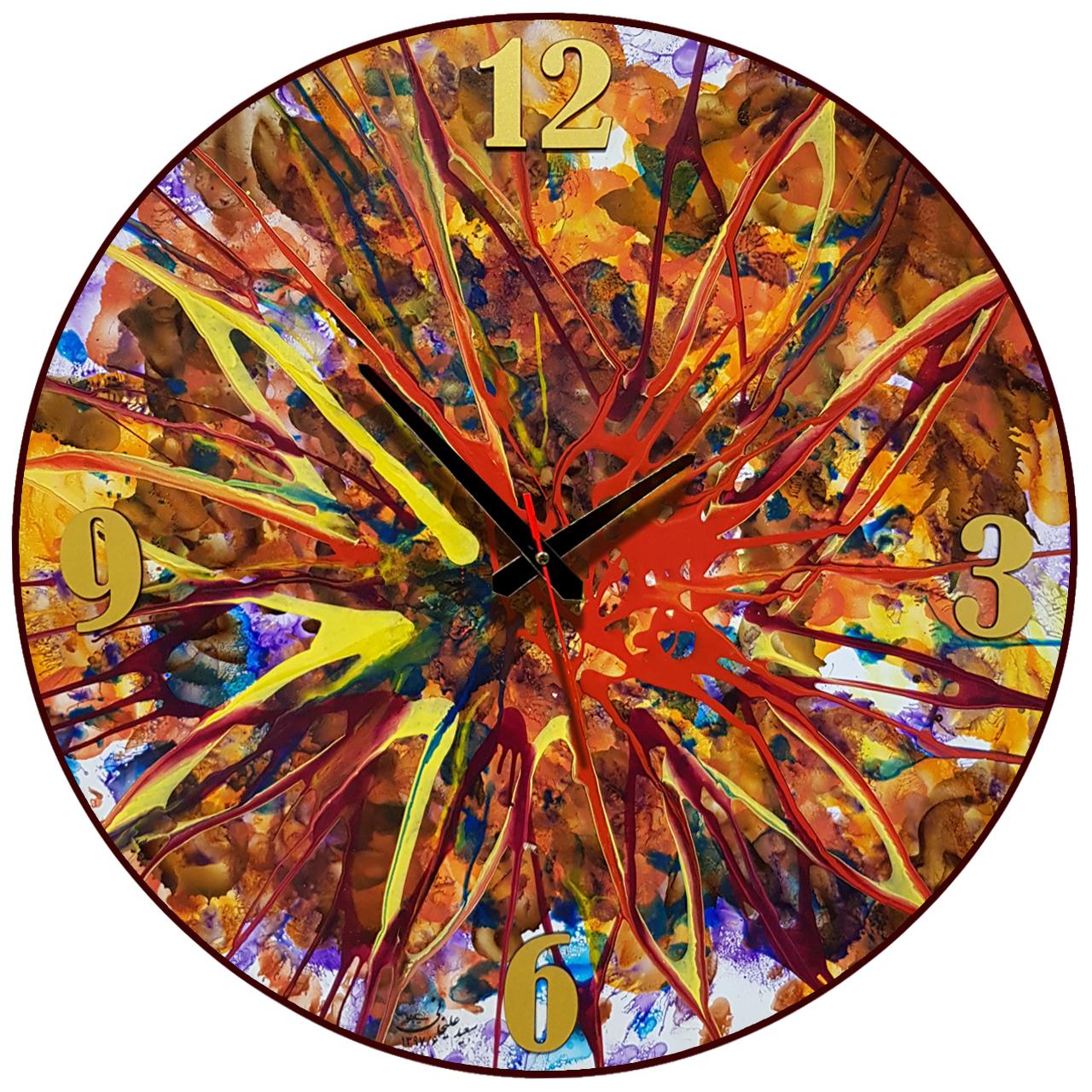 خرید                      ساعت دیواری نقاشی سیتابلو کد Ts60-11