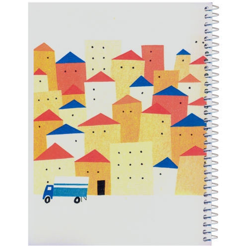 دفترچه یادداشت مدل کژوال طرح شهر رنگارنگ