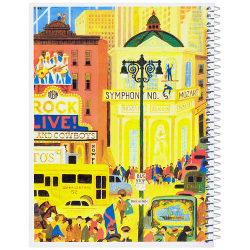 دفترچه یادداشت مدل کژوال طرح شهر پر هیاهو