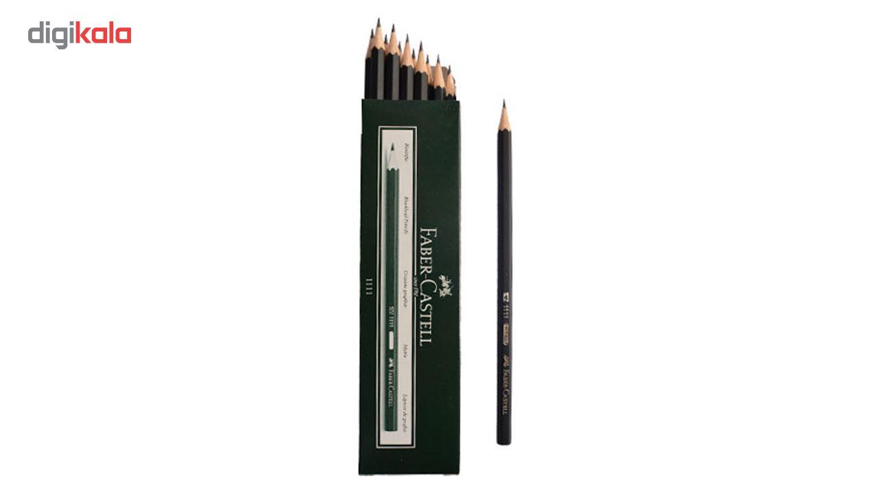 مداد مشکی فابر کاستل کد 1111 بسته 12 عددی main 1 6