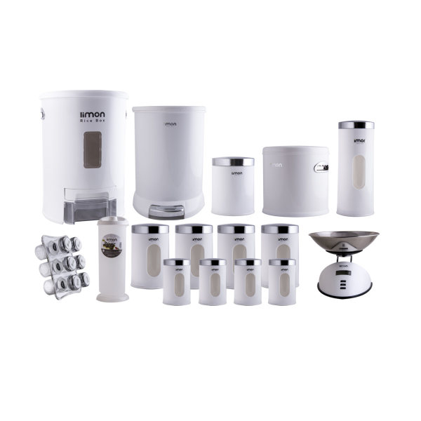 سرویس 22 پارچه آشپزخانه لیمون مدل 001