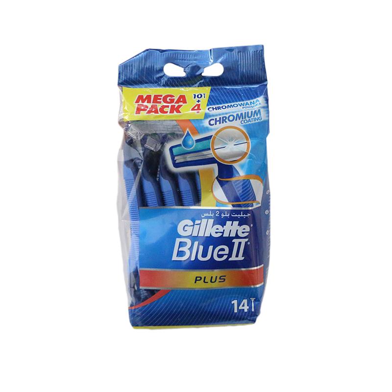 قیمت خودتراش ژیلت مدل Blue 2 plus بسته 14 عددی