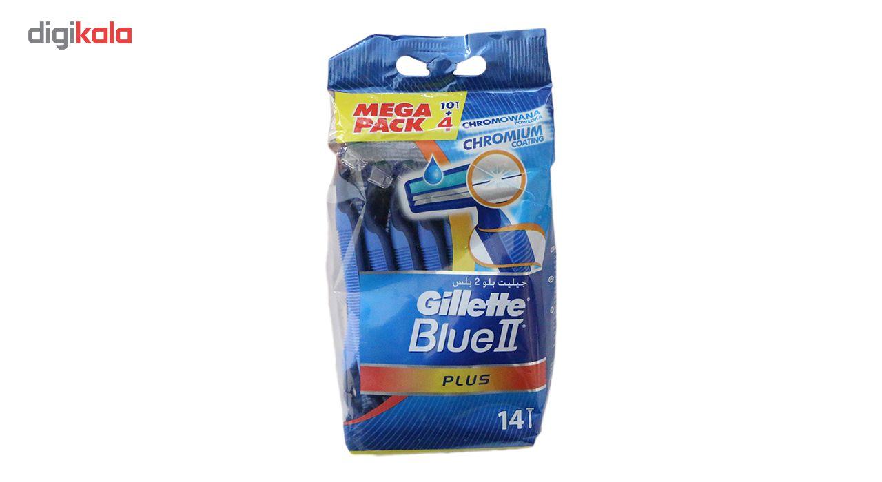 خودتراش ژیلت مدل Blue 2 plus بسته 14 عددی main 1 2