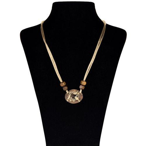 گردنبند طلا  18 عیار جواهری پرن مدل چوب  آشیانه WP001