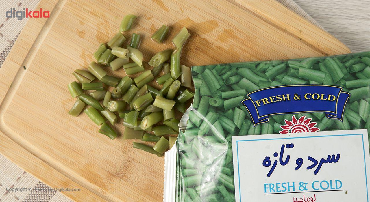 لوبیا سبز منجمد سرد و تازه مقدار 400 گرم main 1 6
